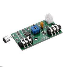 Micrófono amplificador de señal de CA Placa de recogida micrófono amplificador módulo ganancia ajustable Audio amplificador circuito