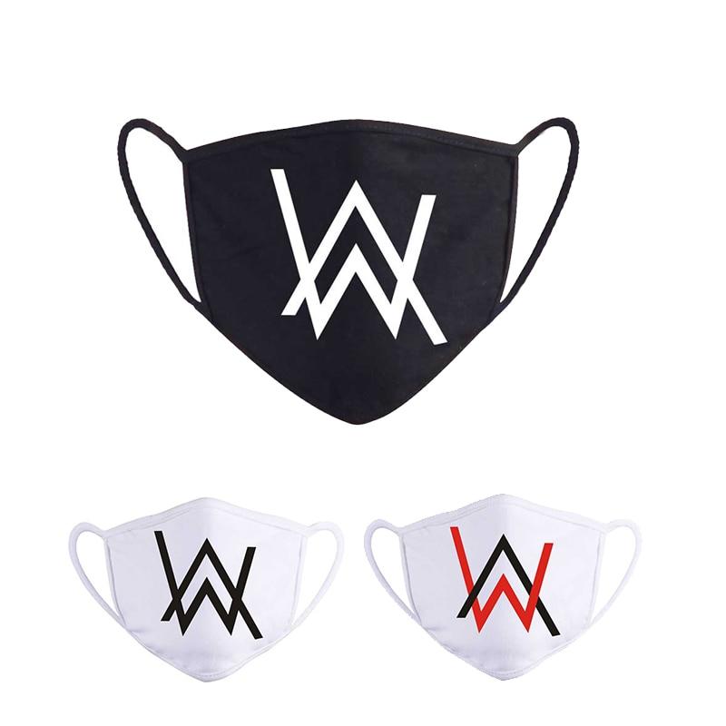 Многоразовая Тканевая маска для лица, модная черная маска Алана Уокера, защита для лица для взрослых, пылезащитные моющиеся мужские и женск...