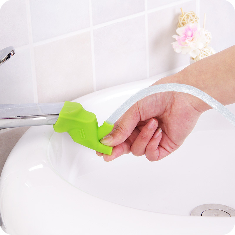 Cute Bathroom Sink Faucet Chute Extender Children Kids Washing Hands Gutter Sink Guide Saving Faucet Bathroom Accessories