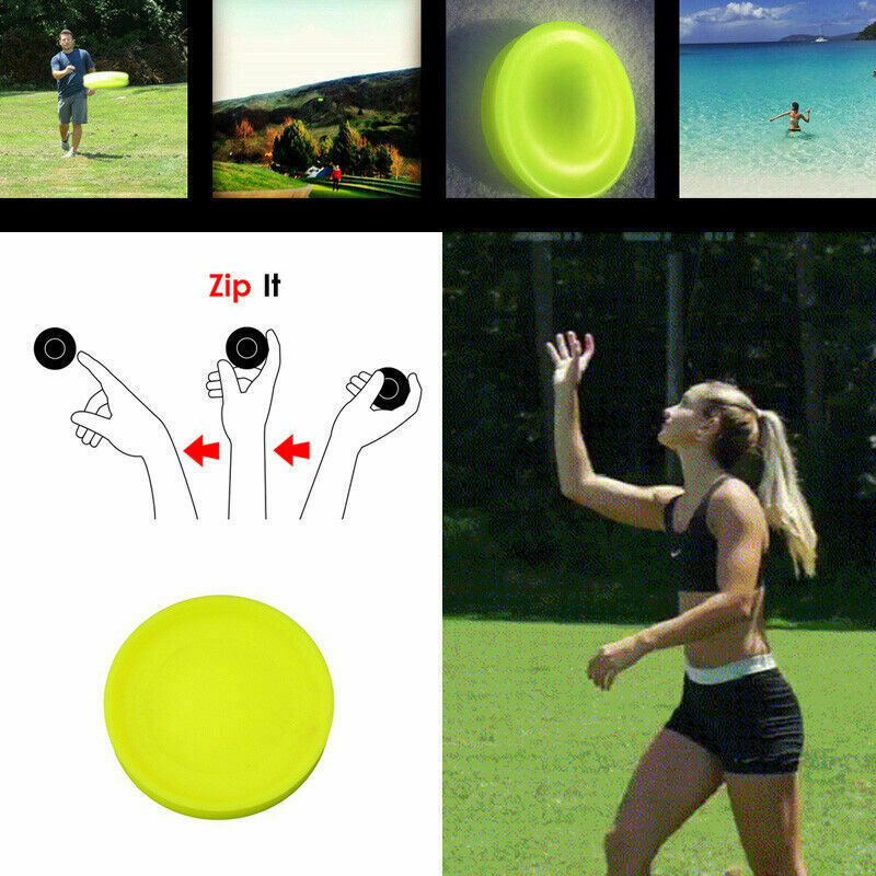 Mini Beach Flying Disk For Outdoor Sports Silicone Disc Decompression Toys To Play Beach Entertainment Toys