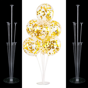 7 tube balloons stand birthday balloons arch stick holder wedding decor baloon globos birthday party decorations kids Toy ballon