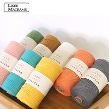 3mm 100% Cotton Single Strand Macrame Cord Colorful Cotton Macrame Rope for Wall Hanging Home Decoration Gift Tapestry Art