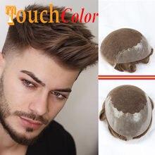 Q6 erkekler peruk insan saçı İsviçre dantel ve Pu erkekler peruk saç parçaları sistemi peruk doğal saç çizgisi ağartıcı düğüm insan Ombre saç peruk