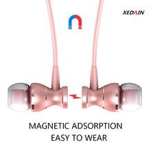 In Ohr Wired Bass Sound Kopfhörer Metall Magnetische Headset für Telefon mit Mic Mikrofon Volume Control Stereo Ohrhörer Mp3