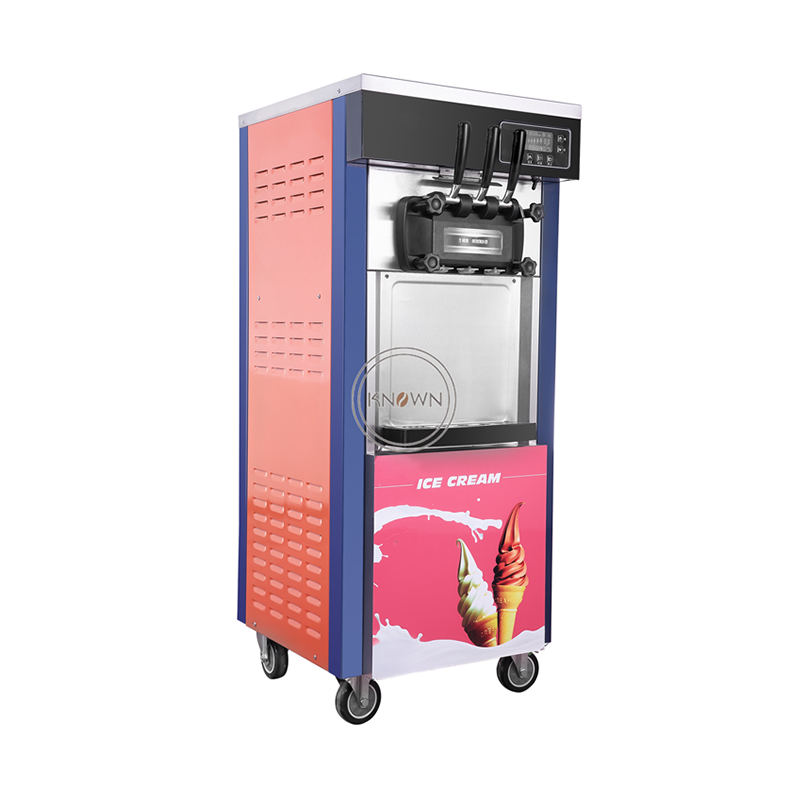 3 Flavors Stainless Steel 28L/h Colorful Soft Serve Ice Cream For Sale