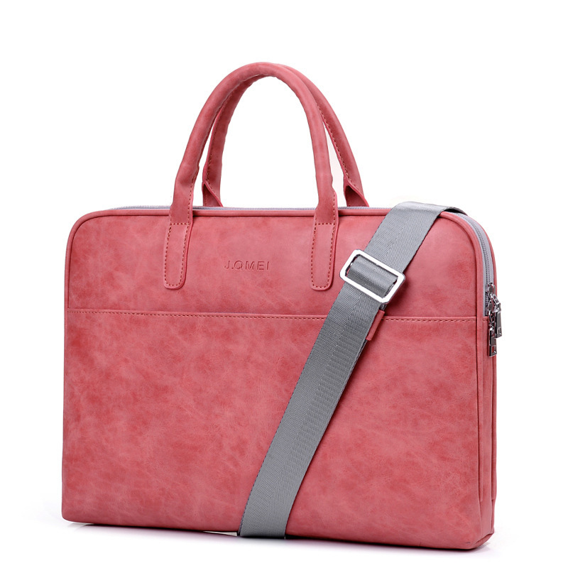 Stylish Waterproof Shoulder Briefcase Laptop Handbag Woman 13.3 14 15.6 Inch Large Capacity Leather Laptop Bags For Women Totes