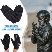 Buy Genuine Leather Off-road Moto Gloves Touch Screen Cycling Gloves  Men Women Motocross Waterproof Electric Bike Gloves Moto Glove directly from merchant!