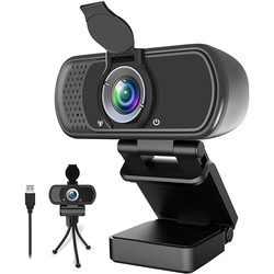 Webcam 1080P Full HD Fixed Focus PC Camera Web Camera with Microphone IP Camera for PC Computer and Laptop