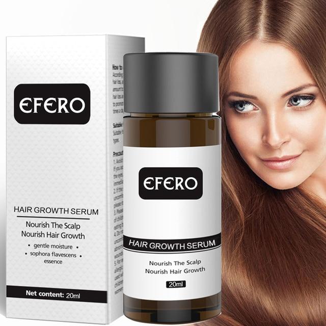 EFERO esencia para el crecimiento del cabello, tratamiento para prevenir la pérdida de cabello, suero para el crecimiento del cabello denso y suave, cuidado de la salud, 20ml