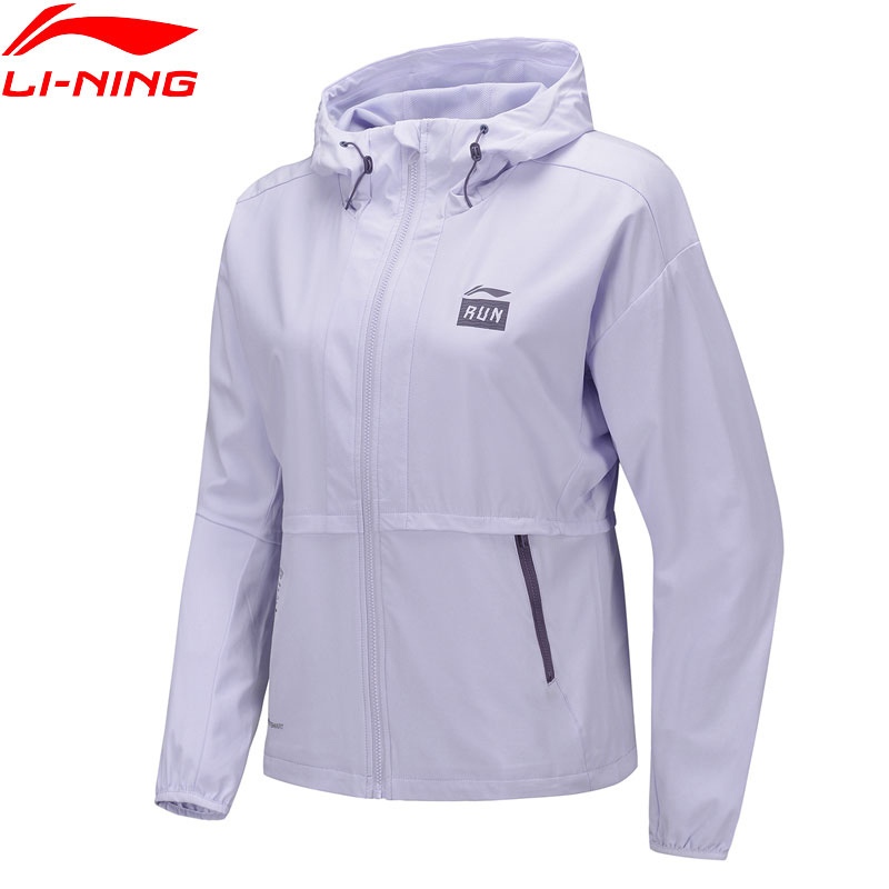Li-Ning Women Running Windbreaker AT PROOF SMART Water Repellency Regular Fit Li Ning LiNing Hooded Sport Jackets AFDQ032 WWF938
