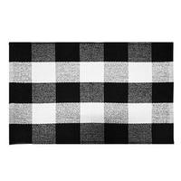 Baumwolle Buffalo Plaid Teppiche  Buffalo Überprüfen Teppich  23 6 Inch x 35 4 Inch  Checkered Outdoor Teppich  outdoor Plaid Fußmatte Für Küche/Bathroo Teppich    -