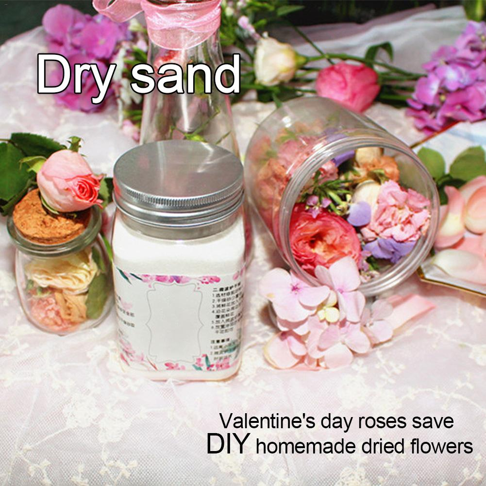 DIY Three-dimensional Dried Flowers Eternal Flower Dry Sand Desiccant Flowers Drying Sand Homemade Rose Dried Flowers
