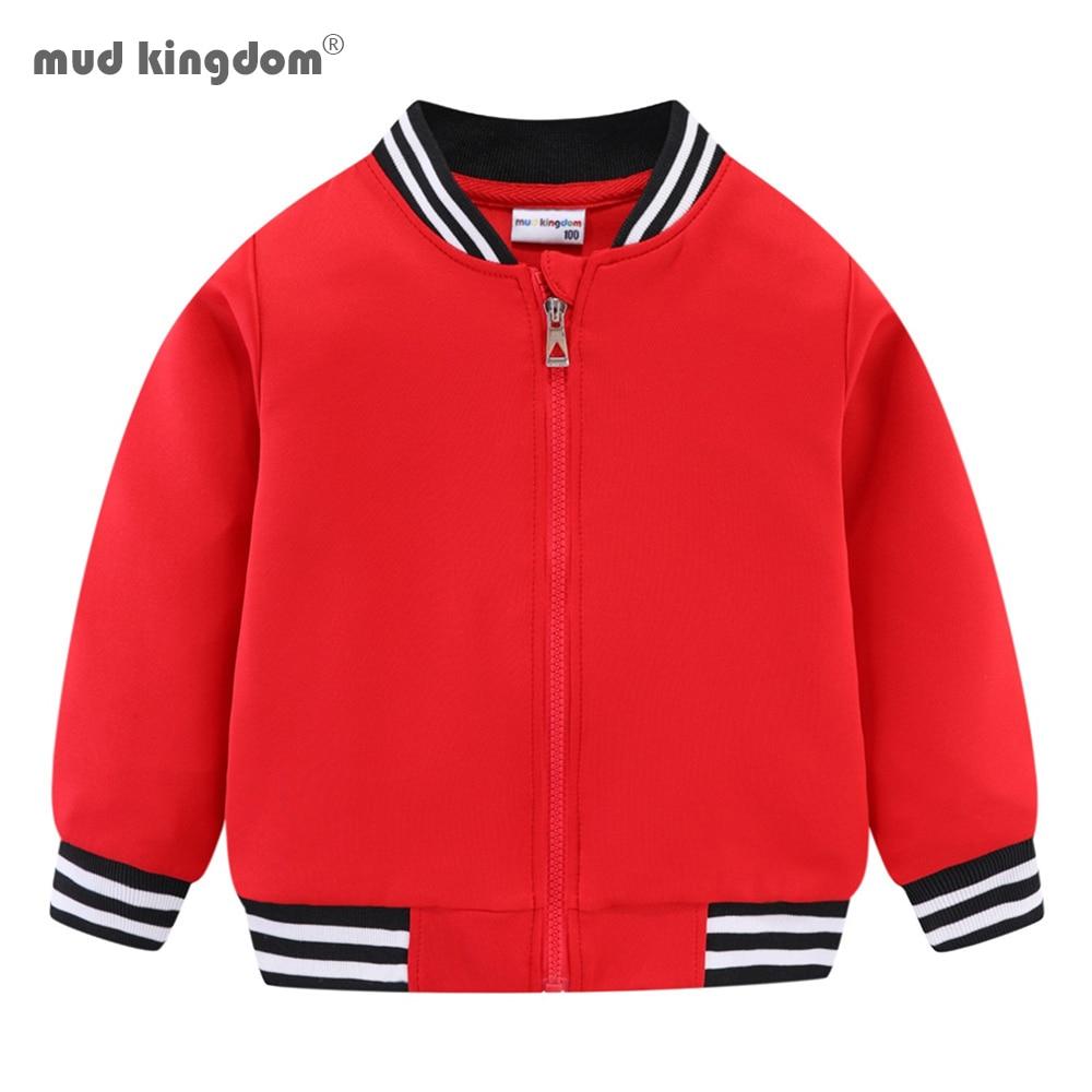 Mudkingdom Girls Boys Baseball Jacket Quick-dry Plain Kids Spring Autumn Clothes Fashion Outerwear Zip Up 1
