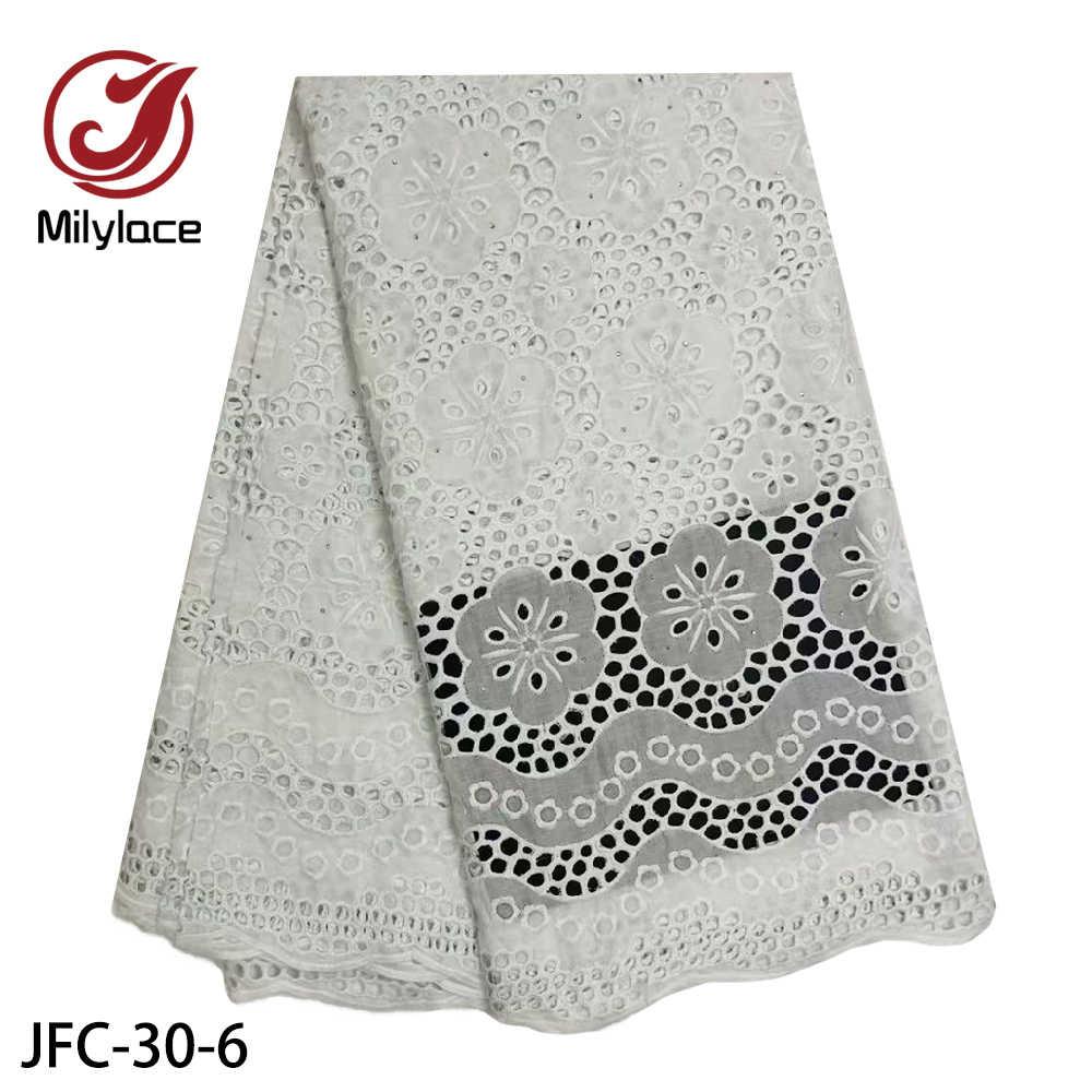 Африканская кружевная ткань, высокое качество, сухое кружево, вышитое в нигерийском стиле, хлопковое кружево, швейцарская вуаль, кружево в Швейцарии, JFC-30