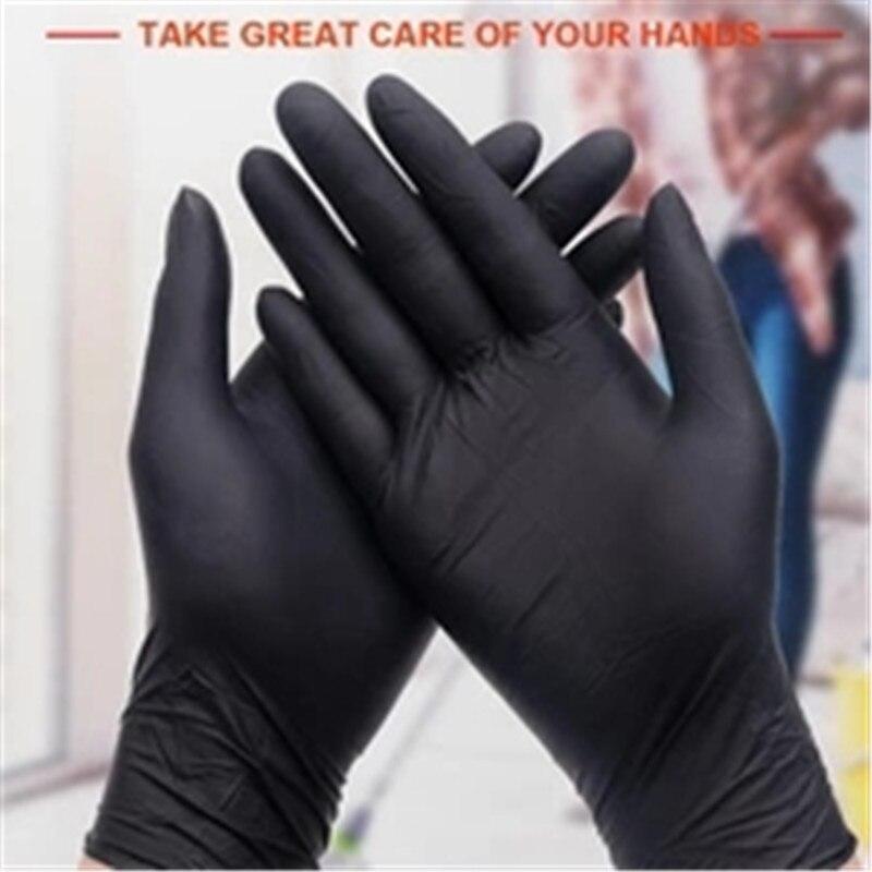 2 Colors Disposable Gloves Nitrile Gloves Wear-resisting Multifunctional Kitchen Hairdressing Restaurant Garden Glove Durable