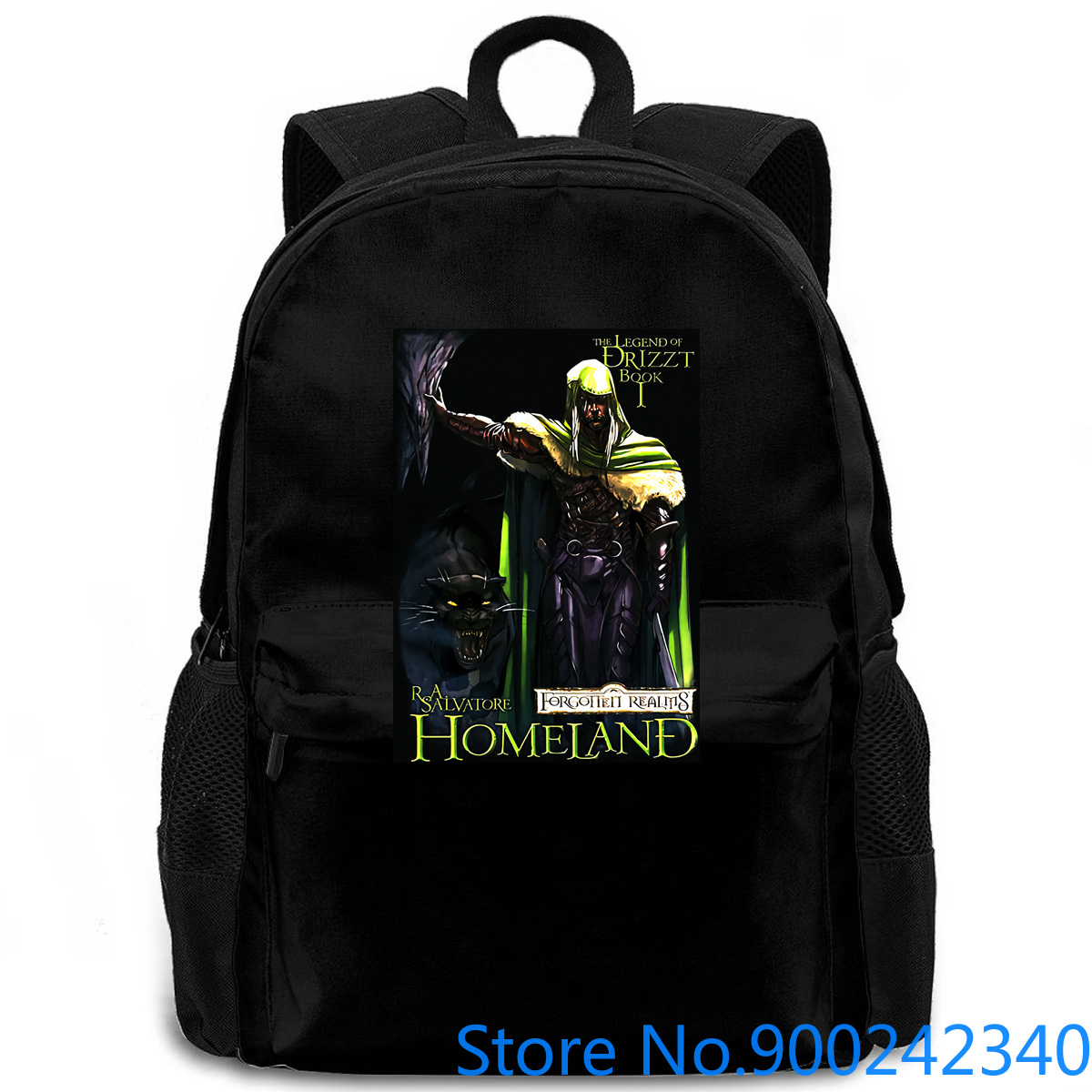 <font><b>Drizzt</b></font> Do'Urden Forgotten Realms Salvatore Homeland Book s Cheap Sale for Boys women men backpack laptop travel school image