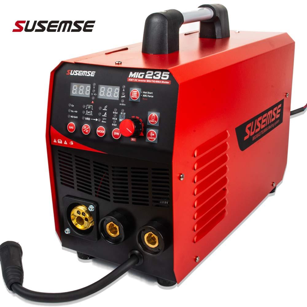 TIG/MMA/MIG Schweißer 3IN1 Combo Multi-Funktion Tosense Schweißen Maschine 220V Neue Design Gas/ kein Gas Schweißer MIG235