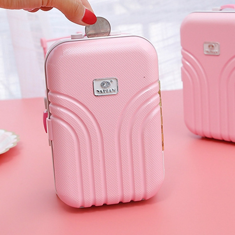 Trolley Case Can Store Money Child Storage Piggy Bank Girl Toy Night Loli Suitcase Save Money Suitcase