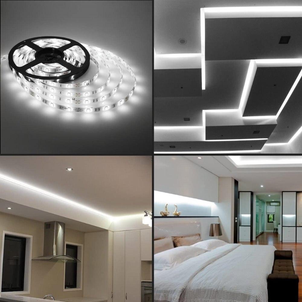 Hbc29d44110c049f29d4c7a19266f2870Z - DC5V LED Strip Light  5050SMD USB Cold white Flexible LED Lamp Tape Ribbon 1M 2M 3M 4M 5M TV Desktop Screen BackLight Diode Tap