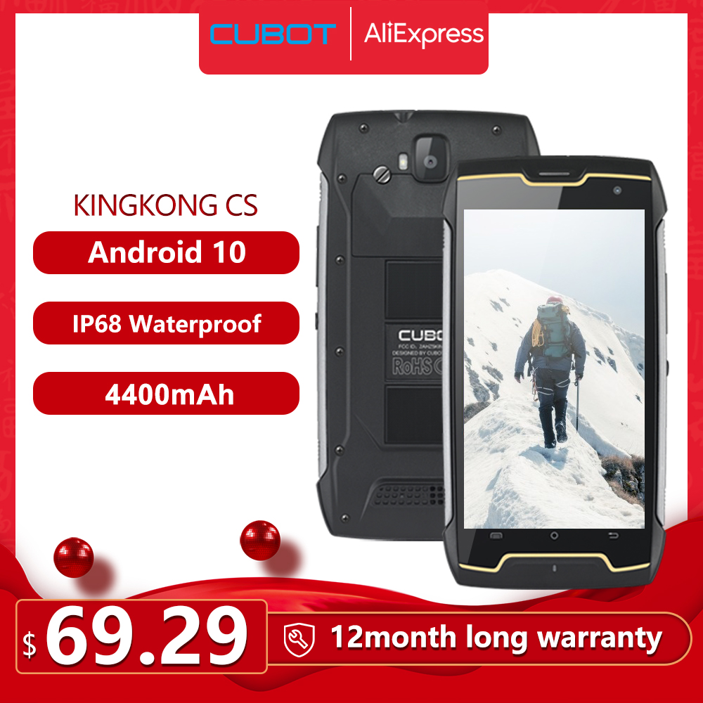 Cubot KingKong CS Android 10 IP68 Waterproof Smartphone 5 Inch 4400mAh Face ID Dual SIM Card Telephone Rugged Phone King Kong