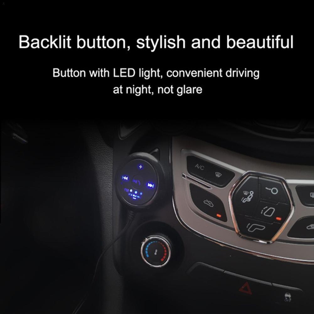 Bluetooth 5.0 FM Transmitter Modul Carregador Handsfree Auto Adapter Mp3 Áudio Receptor Player USB C4R9