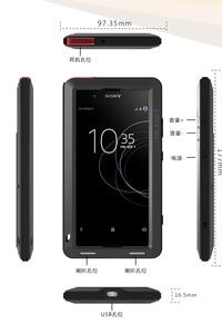 Image 3 - Etui na całe ciało do Sony Xperia XA1 Plus Ultra XZ XZ1 XA2 XA Ultra 2, odporna na wstrząsy metalowa osłona na zbroję do Sony XA Case + szkło Gorilla