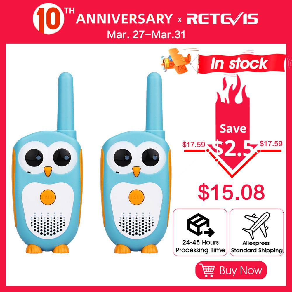 Retevis RT30 Owl Walkie Talkie 2pcs Kids Mini Portable Children Radio 0.5W 1CH FRS/PMR PMR446 2 Way Radio Toy Christmas Gift