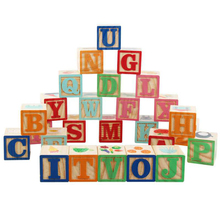 Kids Montessori Alphabet Letters Digital Wooden ABC 6 SIDE Cube Blocks 26PCS Early Learning Resources Educational Toys