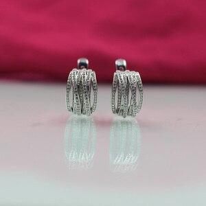 Image 4 - פתיל דולי חדש טאסל עגילי גבירותיי אופנה חתונה האצולה עגילי 585 רוז זהב טבעי זירקון בוהמי עגילים