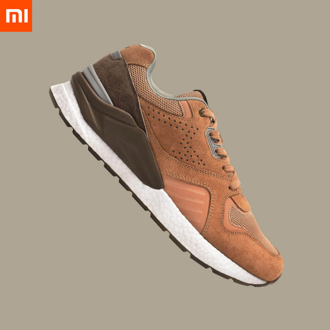 Xiaomi Mijia Retro Running Shoes Elastic Damping Sneakers Stitching Mesh Vamp Tpu Balance 3m Reflective Sport Shoes For Man Smart Remote Control Aliexpress