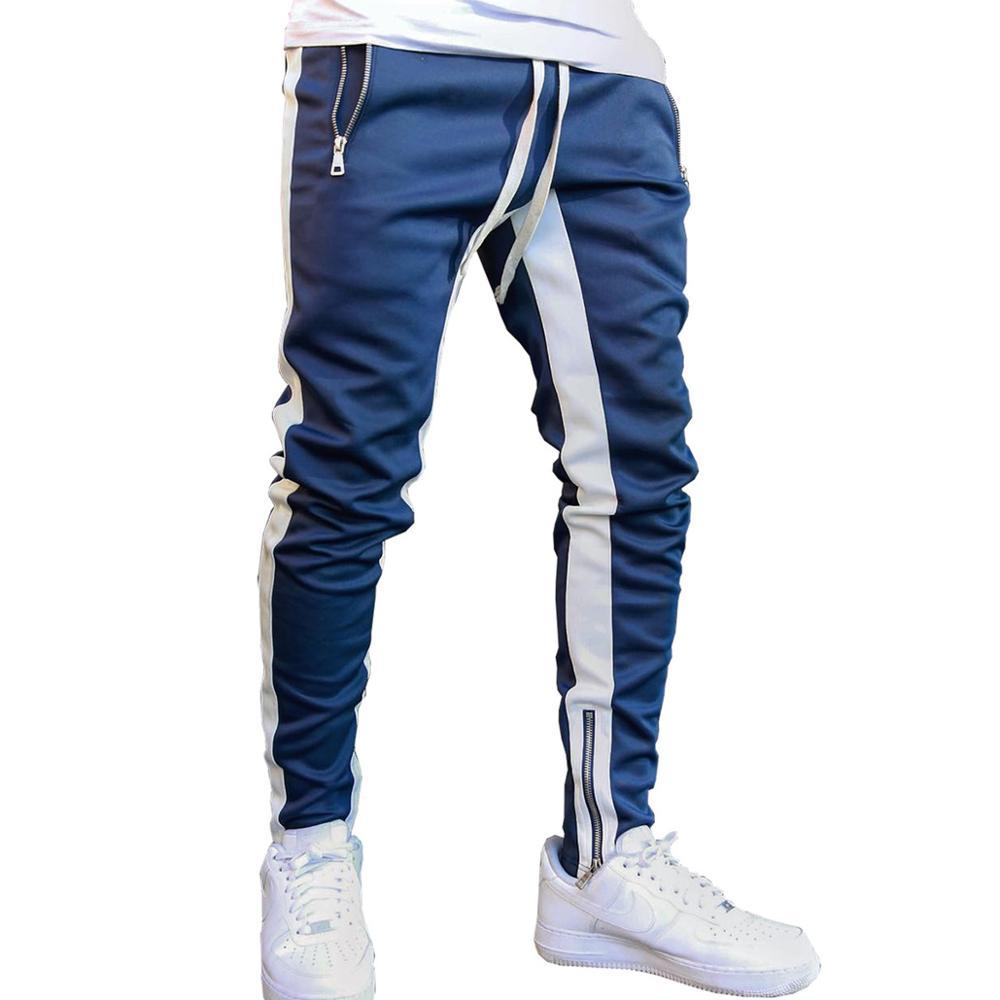 2020 Mens Joggers Casual Pants Fitness Men Sportswear Tracksuit Bottoms Skinny Sweatpants Trousers Black Gyms Jogger Track Pants