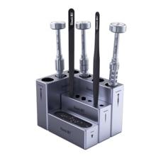 Qianli Aluminum Alloy Modular Storage Box For Mobile Phone Repair Tool Tweezers Screwdriver Screw Parts Organizer 4pcs/Set