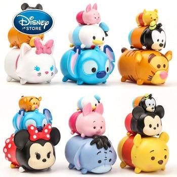 Disney Tsum Tsum Action Figur Mickey Maus Minnie Winnie The Pooh Stich Q Version Sammeln Spielzeug Kuchen Dekoration Ornament Modell