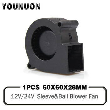 1PCS 12V 24V 6028 6cm  60mm Blower Fan DC Turbo Centrifuge Cooling Cooler Blower Fan 60x60x28mm DC Turbo Blower Cooler Fans 1pcs 7530 dc 5v 12v 24v projector blower centrifugal fan cooling fan 7cm fan 75x75x30mm blower cooler fan 5v usb blower fan