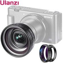 Ulanzi WL-1 zv1 10x hd lente macro 18mm grande angular lente da câmera lente para sony ZV-1 acessórios da câmera lente