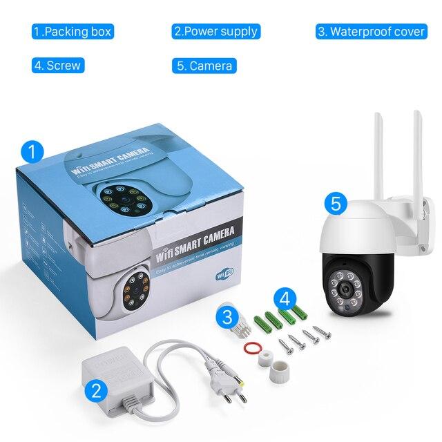 5MP HD PTZ Wifi Camera IP Outdoor Ai Human Detect Audio 1080P FHD IP Camera Color Night Vision 3MP Wifi Security CCTV IP Camera 2