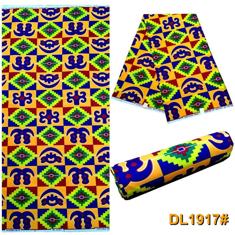 Kente Fabrics 6yards Ankara African Wax Prints Wholesale African   Print 100% Polyester African Wax Fabric for Dress S20602-17