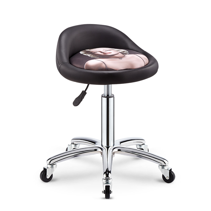 Beauty Stool Barber Shop Chair Rotating Lift Round Stool Back Nail Salon Stool Hair Salon Hairdressing Work Bench
