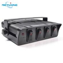 MICTUNING 4 Gang Switch Panel mit LED Licht Anzeige 20A Rocker Schalter Box DC 12 24V für Fahrzeuge boote Lkw Auto Zubehör