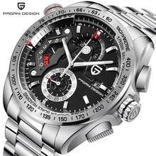 PAGANI DESIGN 2492 luksusowy zegarek męski chronograf biznes kwarcowy ze stali nierdzewnej wodoodporny sportowy męski zegarek Relogio Masculino