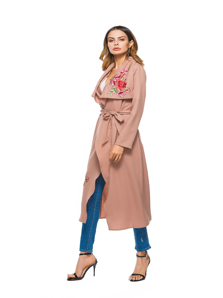 La MaxPa High Quality Embroidered Windcheaters Women Warme Winter   Trench   Elegant Silm Casual Coats Classical Brand Clothing 2019