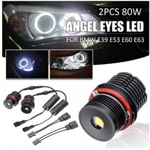 Image 3 - A pair of 80w single 40w 4LED Angel Eye Lights for BMW E39 E53 E60 E63