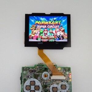 Image 4 - V2 IPS شاشة LCD أطقم ل GBA SP الخلفية شاشة LCD 5 مستويات السطوع V2 شاشة ل GBA SP وحدة التحكم و قبل قطع قذيفة