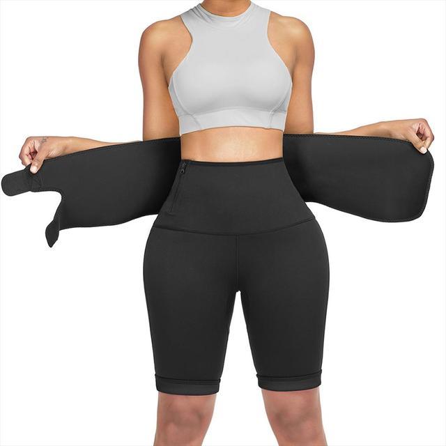 Sweat Slimming Neoprene Pants Body Shapers For Weight Loss Sauna Workouts Fajas Shapewear With Belt 5