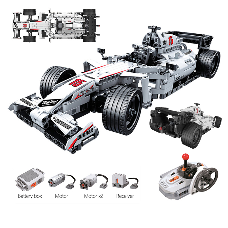 729 pçs técnica rc carro de corrida blocos de construção controle remoto cidade velocidade racer veículo modelo tijolos crianças brinquedos presentes