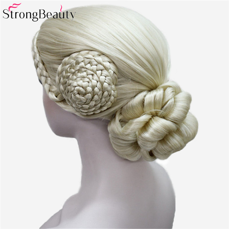 Strong Beauty Synthetic Blonde And Black Wigs Women Wig