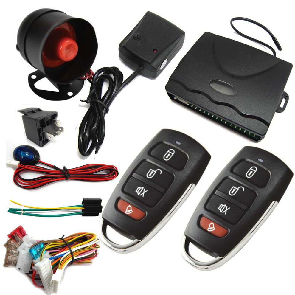 M802-8101 12V Car Security System Alarm Immobiliser Central Locking Shock Sensor