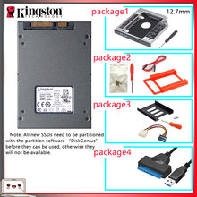 Original kingston ssd 480 gb sats 3 hdd 2.5 polegadas disco duro ssd com hdd caddy/optibay ou adaptador para computador portátil(China)