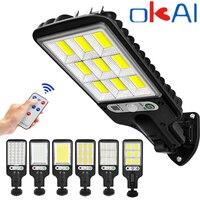 LED Solar Straße Lichter COB + SMD Outdoor Solar Lampe Mit 3 Licht Modus Wasserdichte Motion Sensor Sicherheit Beleuchtung für garten Terrasse