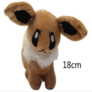 18cm Japanese Pikachued Anime New Original Ibrahimovic Eevee Stuffed Animals Plush Doll Toy(China)